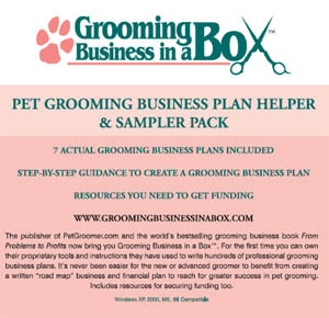 Grooming Business In A Box Cdrom Cover 300 Pet Plan